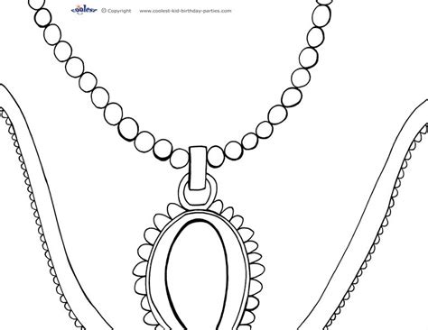 coloring page necklace jewelry coloring pages