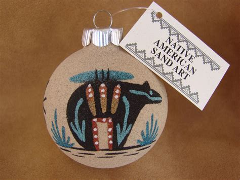 navajomade sand ornaments american sandpainting ornament handmade sp23 treasures of new mexico