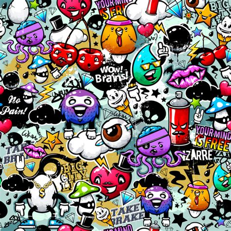wallpaper graffiti lucu fondo de graffiti colorido descargar vectores premium