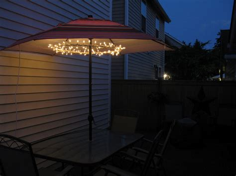 how to decorate your patio with patio umbrella lights