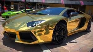 Gold Lamborghini Pictures The Gold Plated Lamborghini Aventador S Golden