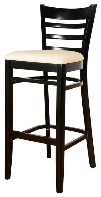 black and white stool cushion slatted ladder back bar stool black white cushion