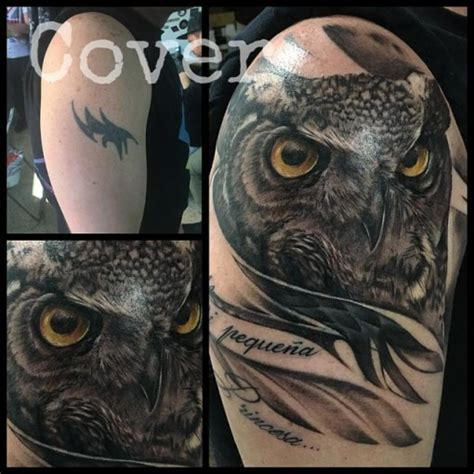 owl cover up tattoos owl cover up best ideas gallery