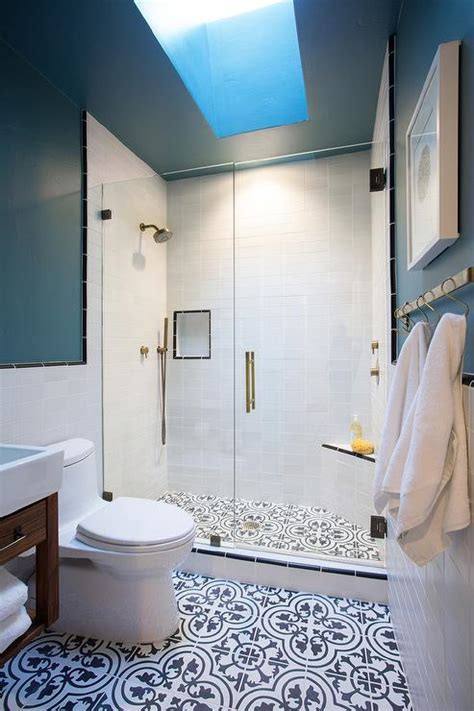 black and blue bathroom ideas patterned blue bathroom floor tiles gurus floor
