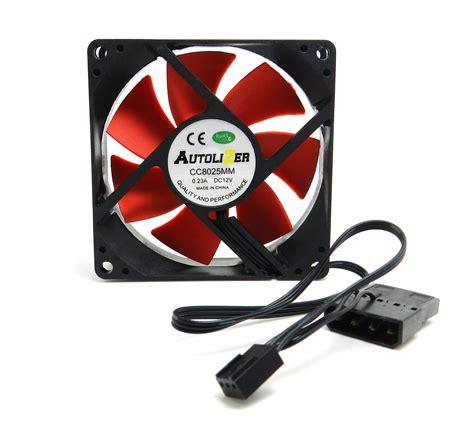 ultra quiet pc fans autolizer 3 quot 80mm red computer pc case fan quiet