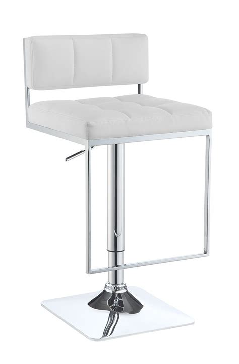 white adjustable counter stools 100193 white adjustable bar stool from coaster 100193