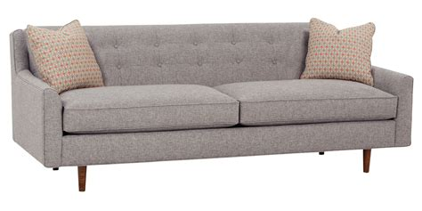 Midcentury Modern Sofa Mid Century Fabric Sofa With Inset Legs Club Furniture