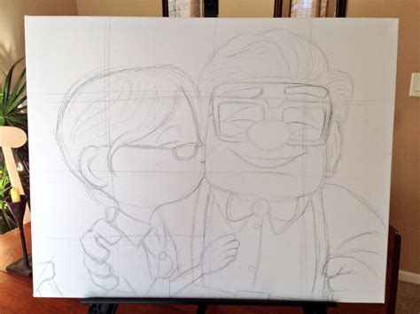 sketch with me carl ellie up carl and ellie drawing www pixshark images galleries with a bite