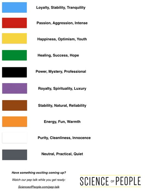 effects of colors color psychology 101 science of people