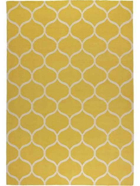 yellow pattern carpet stockholm rug flatwoven net pattern handmade net