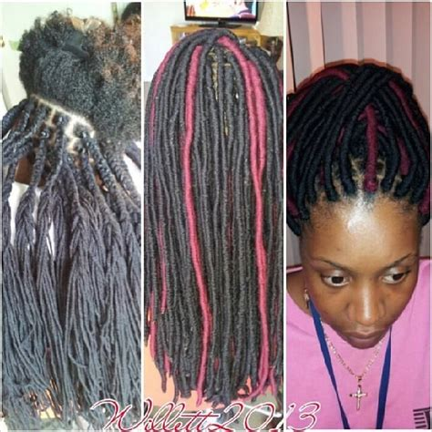 hairstyles made with wool process of the faux dreads wraps yarn twist dreads wraps