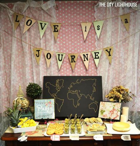 bridal shower theme decorations best 25 travel bridal showers ideas on