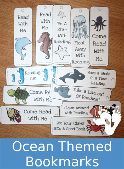 printable ocean bookmarks free ocean themed bookmarks free homeschool deals