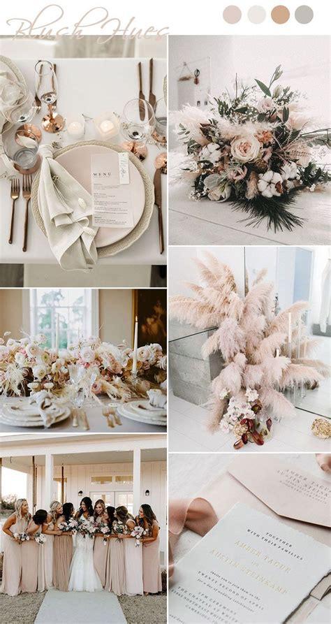 chic  romantic blush pink modern wedding color ideas