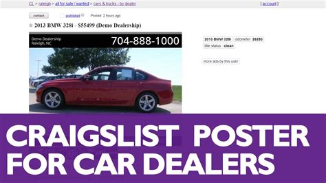 how to post cars to craigslist with dsmc 2014 marketing