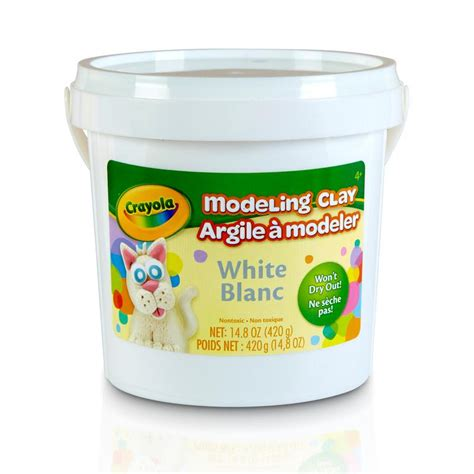 Modeling Clay 15 crayola white modeling clay tools 15 oz soft pliable clay ebay