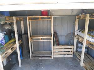 pallet palace storage shed organization system from