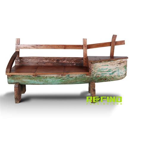 boat couches recycled boat wood antique 2 seaters bench indonesian