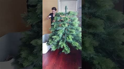 no assembly required christmas tree artificial tree assembly 7 douglas fir