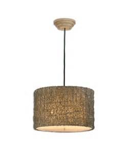 rattan pendant lighting uttermost 21105 knotted rattan 19 inch large pendant