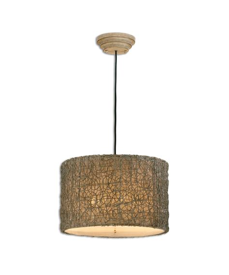 Rattan Pendant Light Uttermost 21105 Knotted Rattan 19 Inch Large Pendant Capitol Lighting 1 800lighting