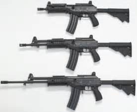 56mm galil ace models 21 22 and 23 rifles from top to bottom