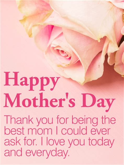 best mothers day cards to the best mom happy mother s day card birthday