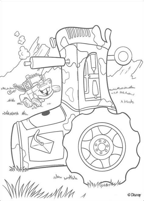 cars coloring pages mater truck and a tractor