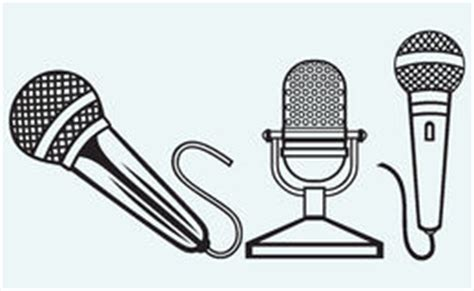quot microphone music audio stencil stencil music icons royalty free stock photography image