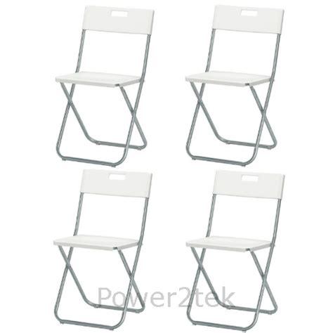 ikea gunde 4 x ikea gunde folding chair white cing caravan garden
