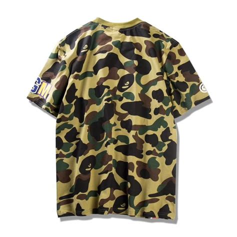 Kaos T Shirt Bape Shark Wgm New a bathing ape bape wgm shark camo t shirt green