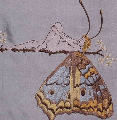 free butterfly hand embroidery embroidery pattern butterfly girl hand embroidered wall art