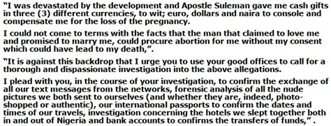 Petition Letter On Threat To Otobo Writes Petition Letter Against Suleman To Lagos Illegal Abortion