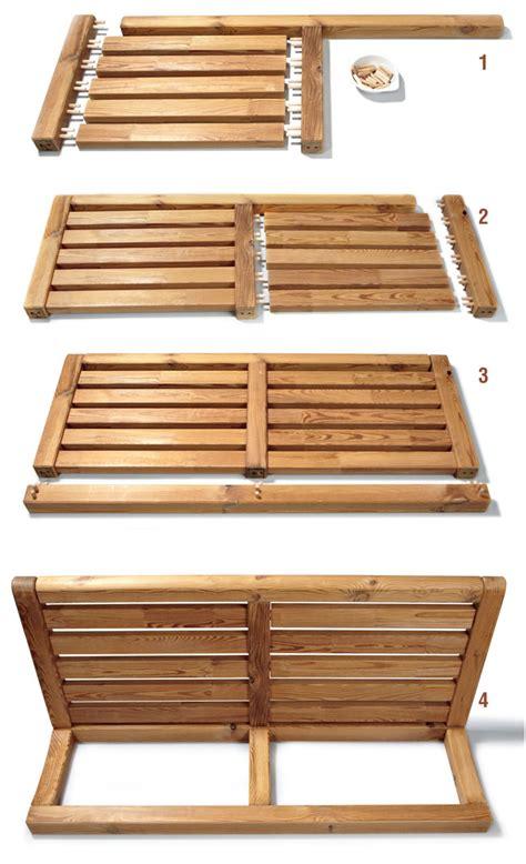 sedie legno giardino arredo giardino fai da te come costruire una panca e