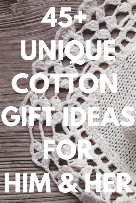 cotton anniversary gifts ideas