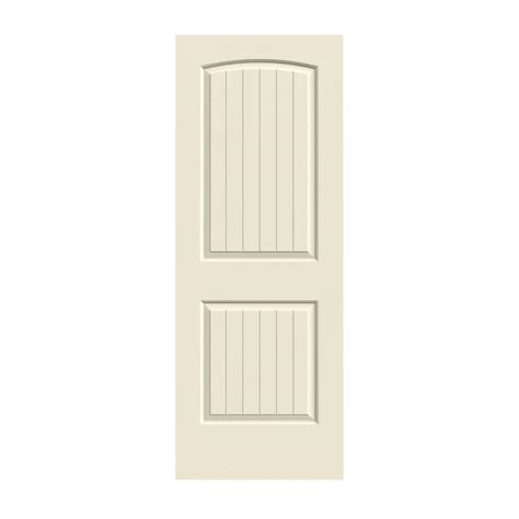 Composite Interior Doors Jeld Wen 30 In X 80 In Molded Smooth 2 Panel Arch Plank Primed White Solid Composite