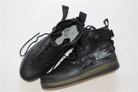 Original Bnib Nike Air 1 Mid Prm Leather Wool Wmn nike special field air 1 mid black tiger camo drops this week kicksonfire