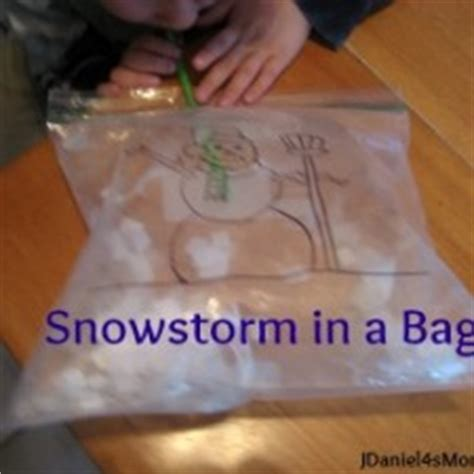 preschool activity snowstorm in a bag