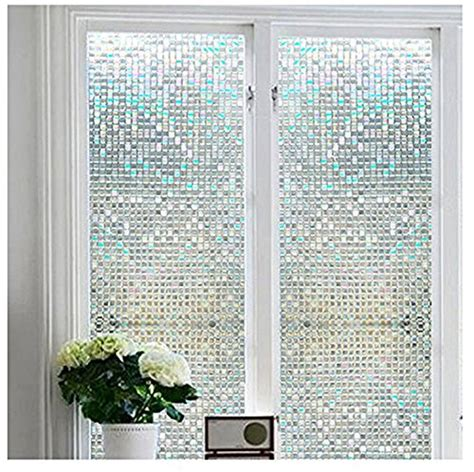 vinyl window covering bloss 3d static cling window stained glass window