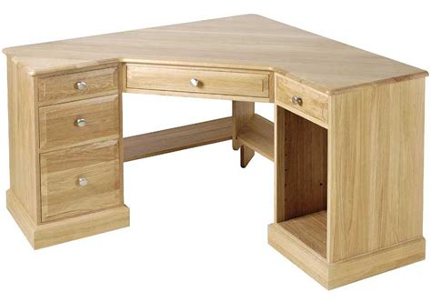 hardwood corner laptop desk unfinished oak corner computer desk with rack for the