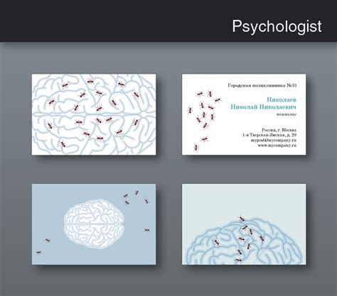 Free Psychology Business Cards Templates by Psychologist Cards 2011 Design