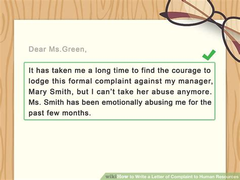 Complaint Letter About Your Coworker 4 ways to write a letter of complaint to human resources