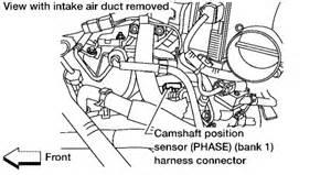 2004 Nissan Maxima Camshaft Position Sensor Location Likewise 2004 Nissan Maxima Camshaft Position