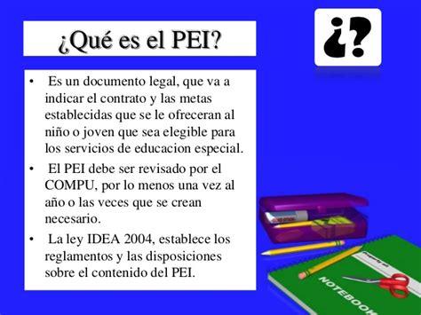 Que Es Un Mba En Educacion by Programa Educativo Individualizado Pei