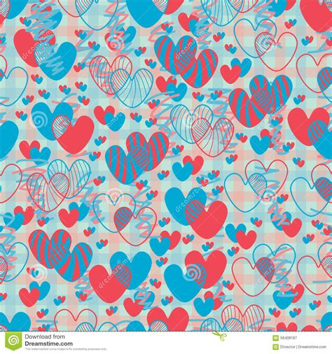 fabric pattern love love double line seamless pattern stock vector image