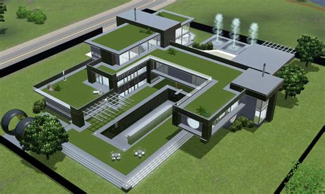 home design career sims 3 sims 3 modern black futuristic villa by ramborocky on