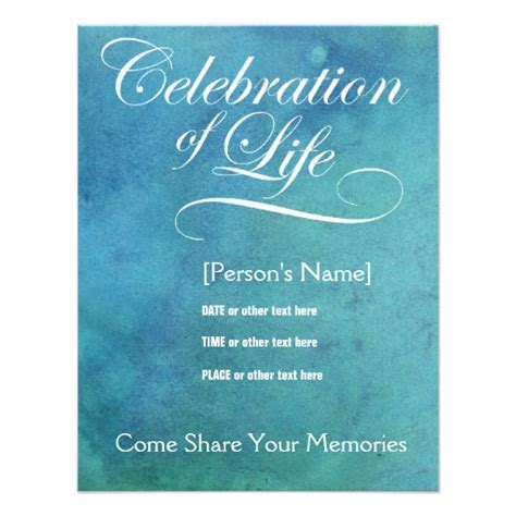 Personalized A Celebration Of Life Invitations Custominvitations4u Com Celebration Of Cards Templates Free