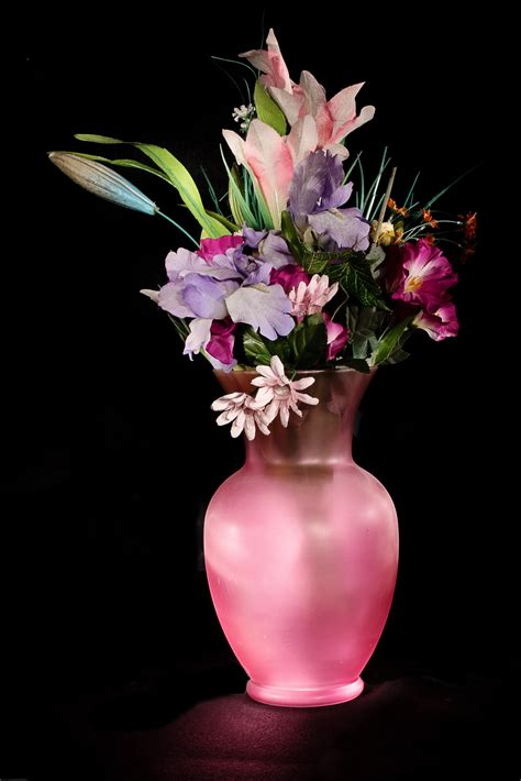 flowers in vase pink vase 183 free stock photo