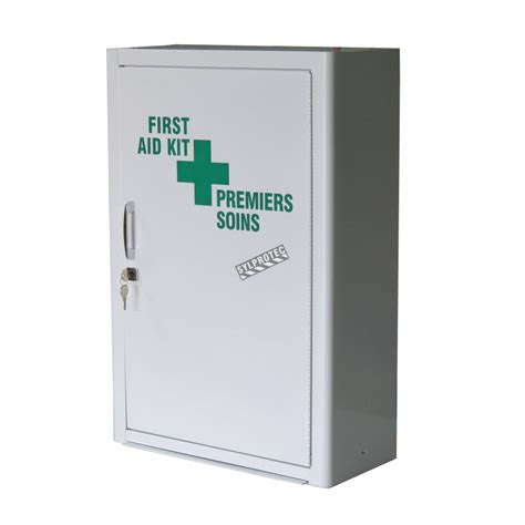 large first aid cabinet wall mounted metal first aid cabinet with solid panel door