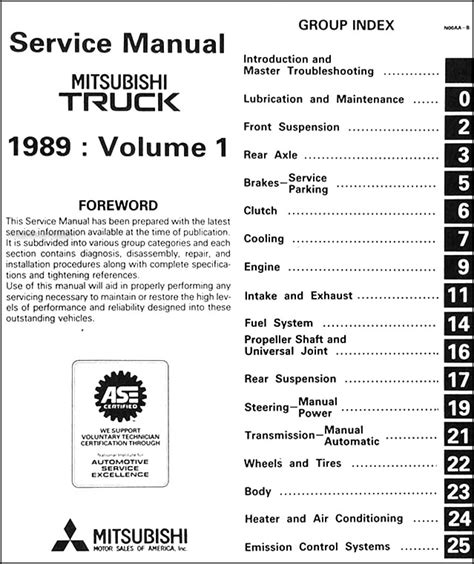 auto repair manual online 1989 mitsubishi truck electronic toll collection 1989 mitsubishi truck repair shop manual set original